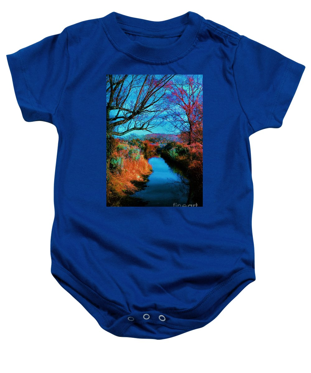 Color Baby Onesie featuring the photograph Color Along The River by Diana Dearen