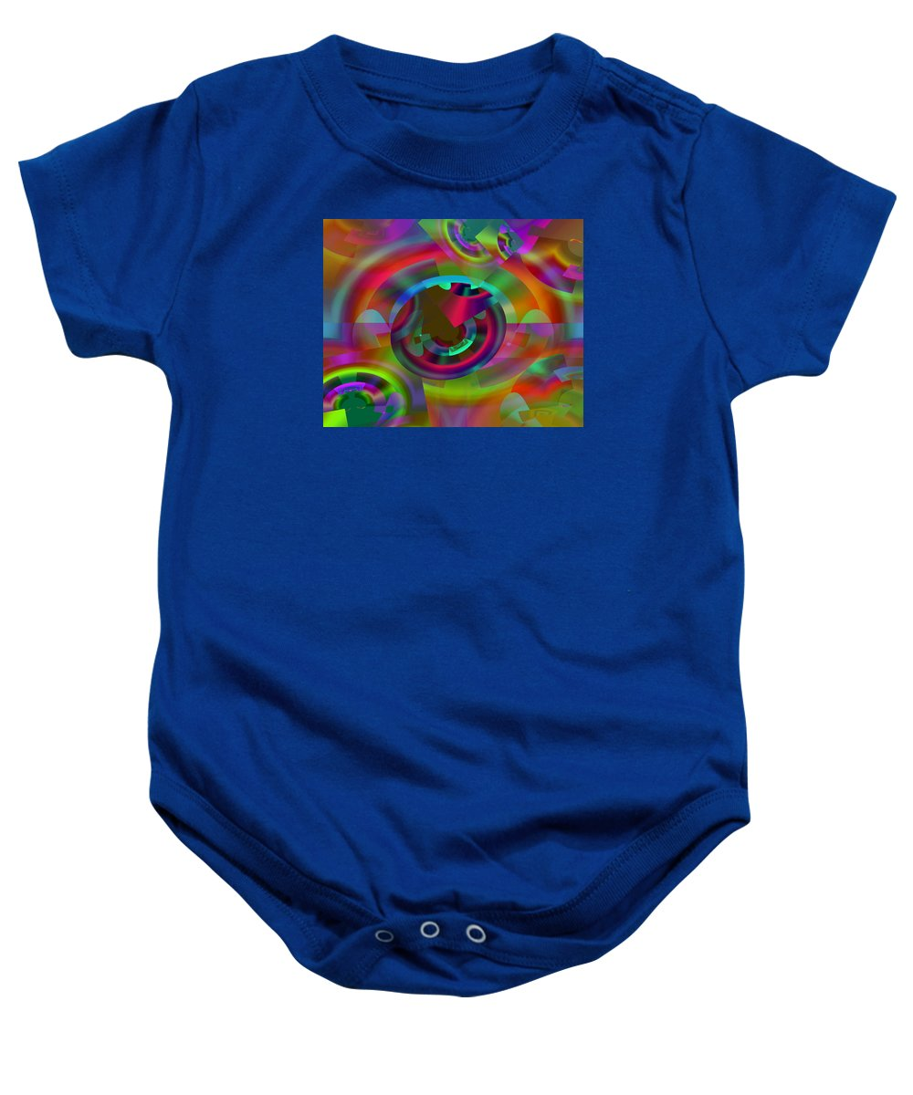 Color Baby Onesie featuring the digital art Color Dome by Lynda Lehmann