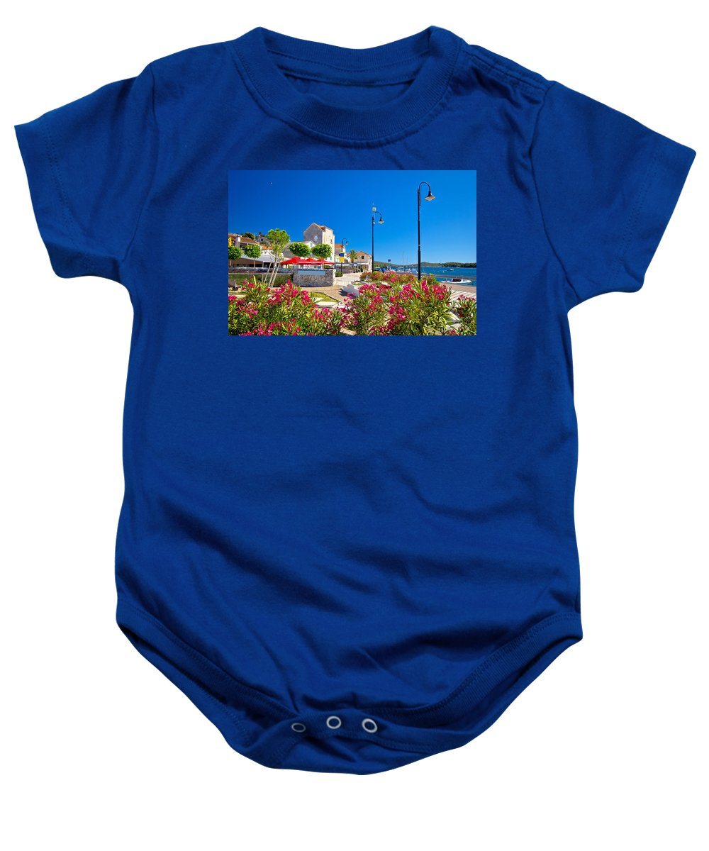 Rogoznica Baby Onesie featuring the photograph Colorful Adriatic Town Of Rogoznica by Brch Photography