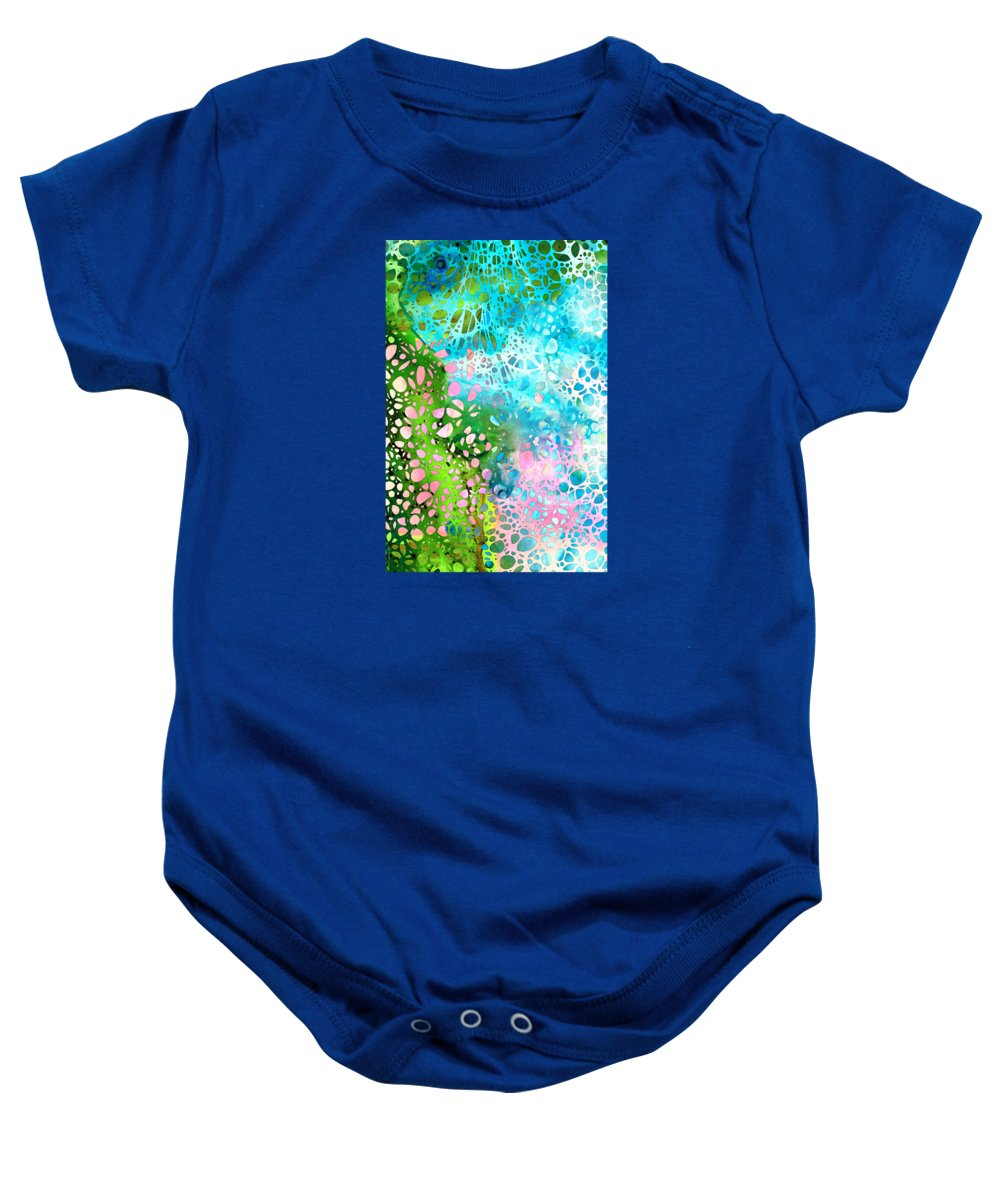 Abstract Landscape Paintings Baby Onesies