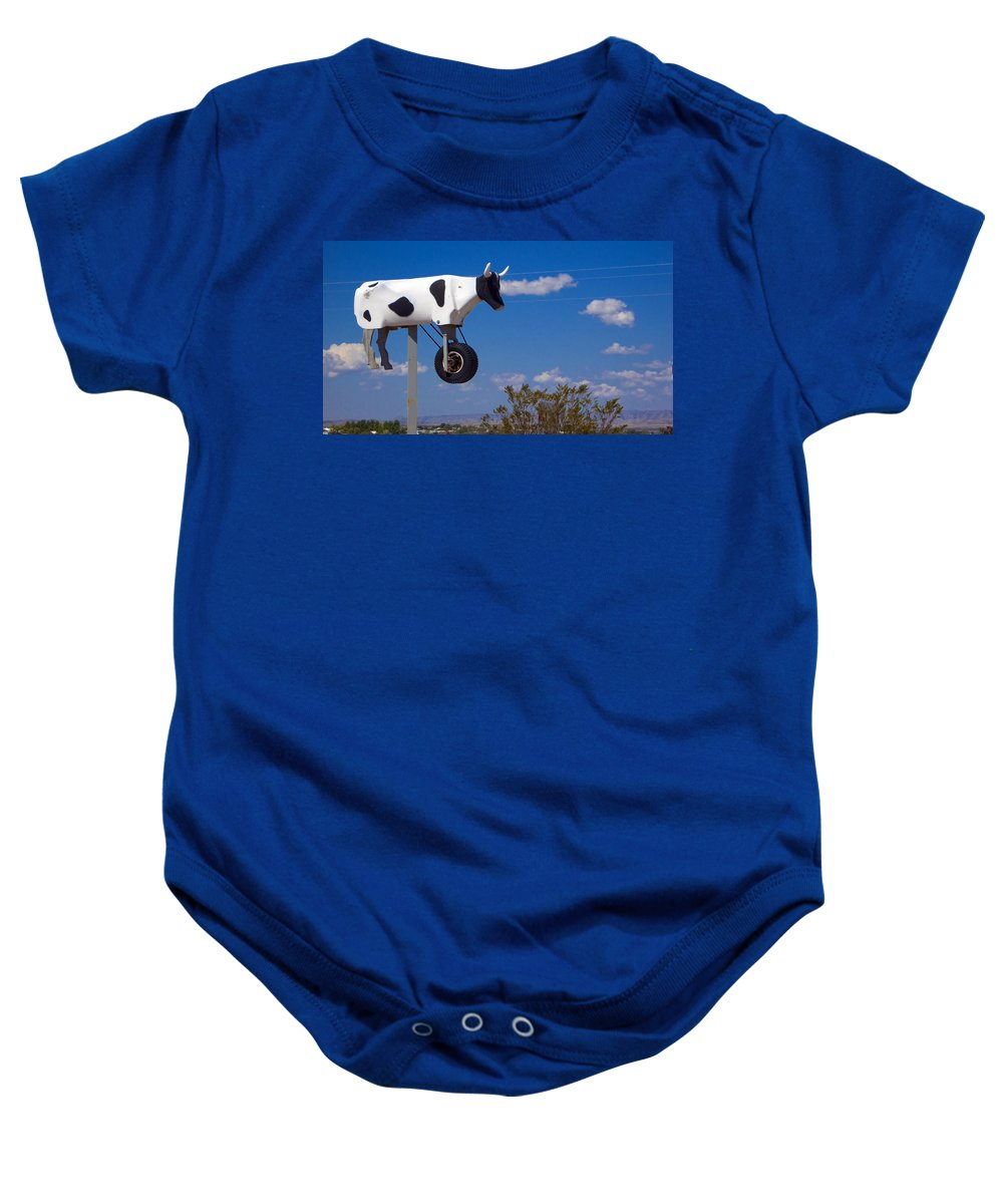 Cow Baby Onesie featuring the photograph Cow Power by Skip Hunt