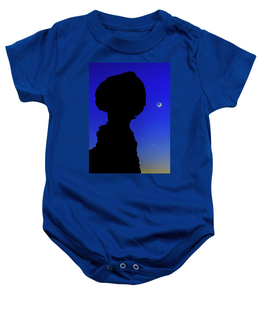 Nature Baby Onesie featuring the photograph Crescent by Chad Dutson