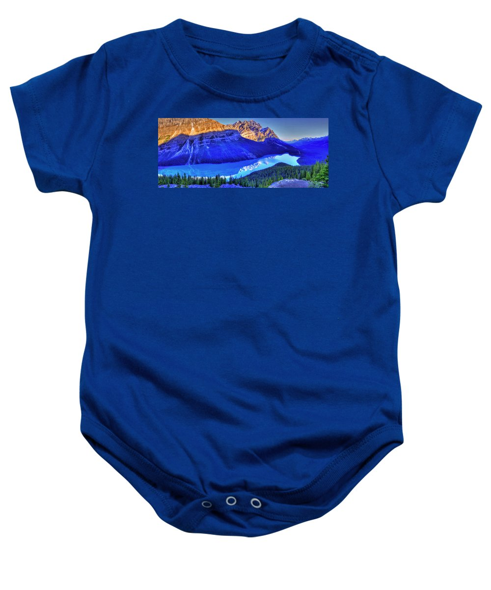 Lake Baby Onesie featuring the photograph Crystal Lake by Scott Mahon
