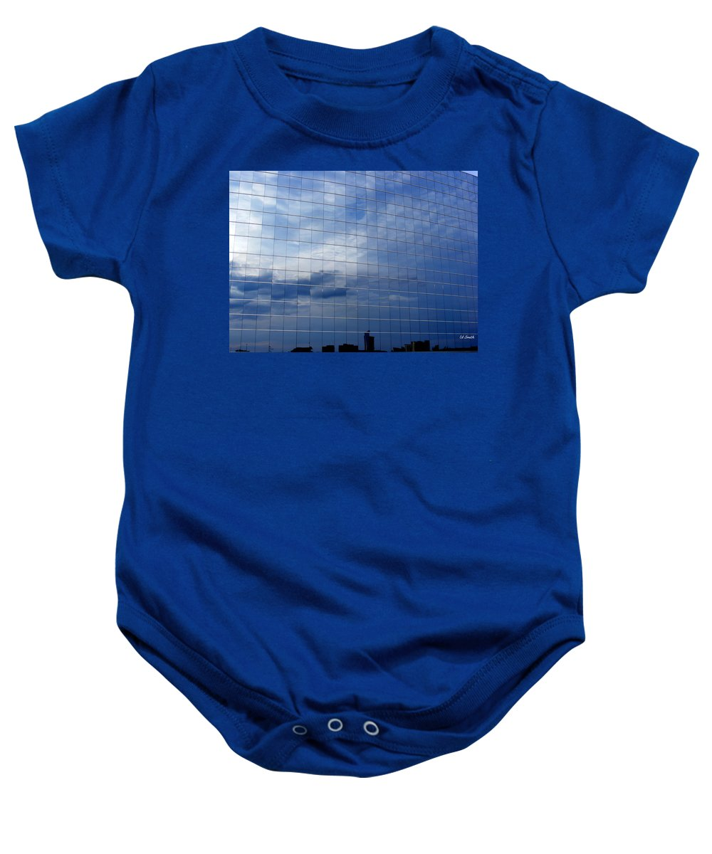 Cubed Baby Onesie featuring the photograph Cubed by Ed Smith