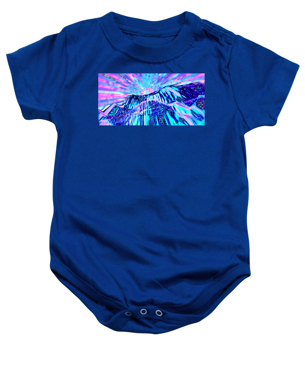 Aurora Borealis Baby Onesie featuring the digital art Dancing Sky by Seth Weaver