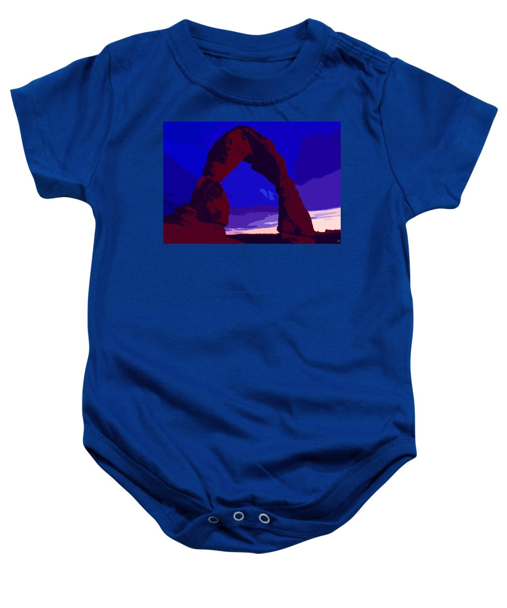Delicate Arch Baby Onesie featuring the painting Delicate Arch by David Lee Thompson