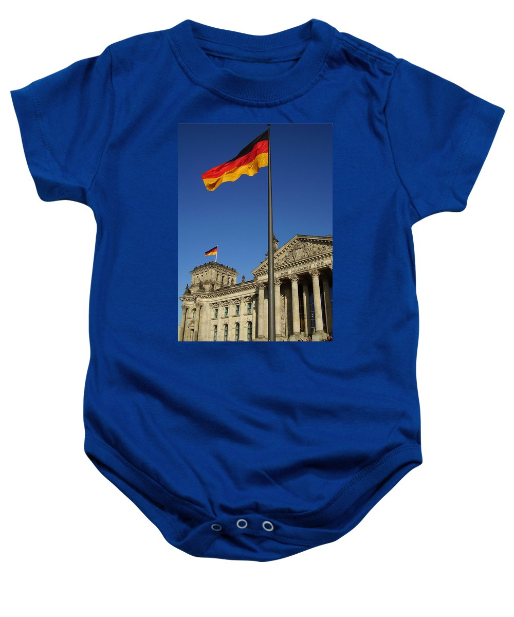 Deutscher Bundestag Baby Onesie featuring the photograph Deutscher Bundestag by Flavia Westerwelle