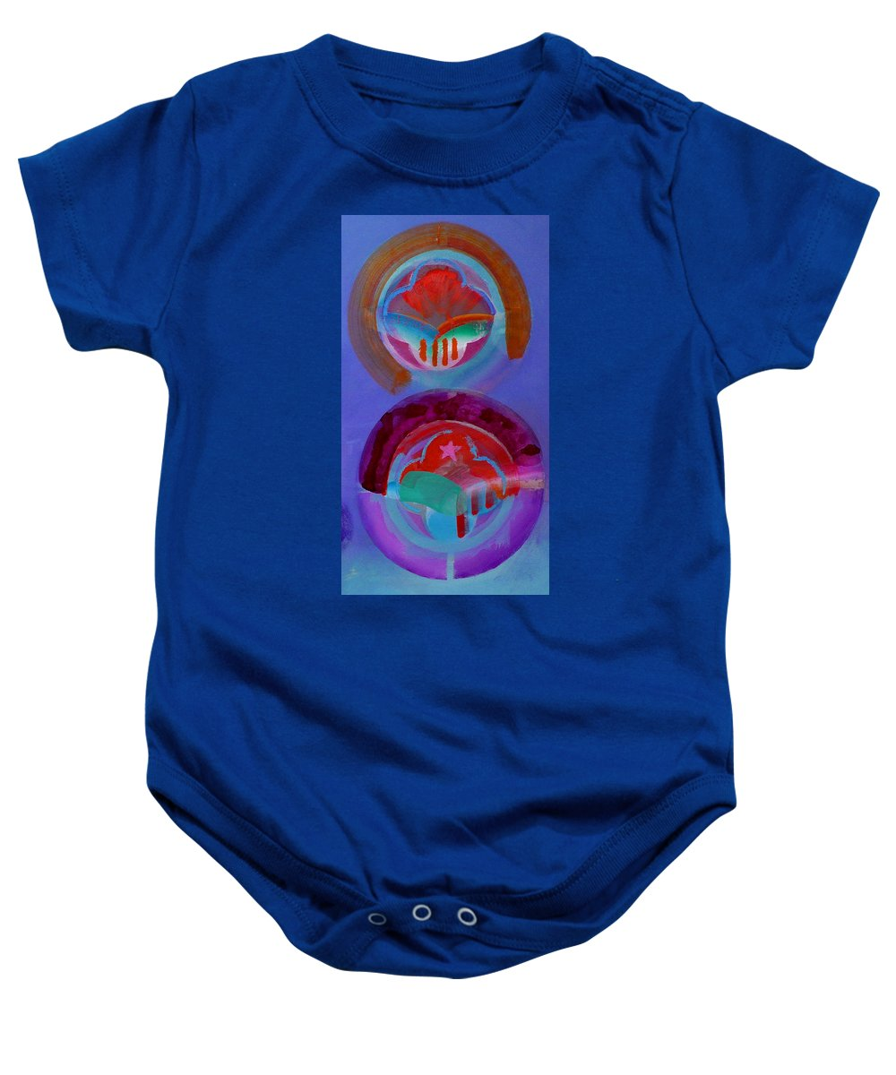 Logo Baby Onesie featuring the painting Diptych by Charles Stuart