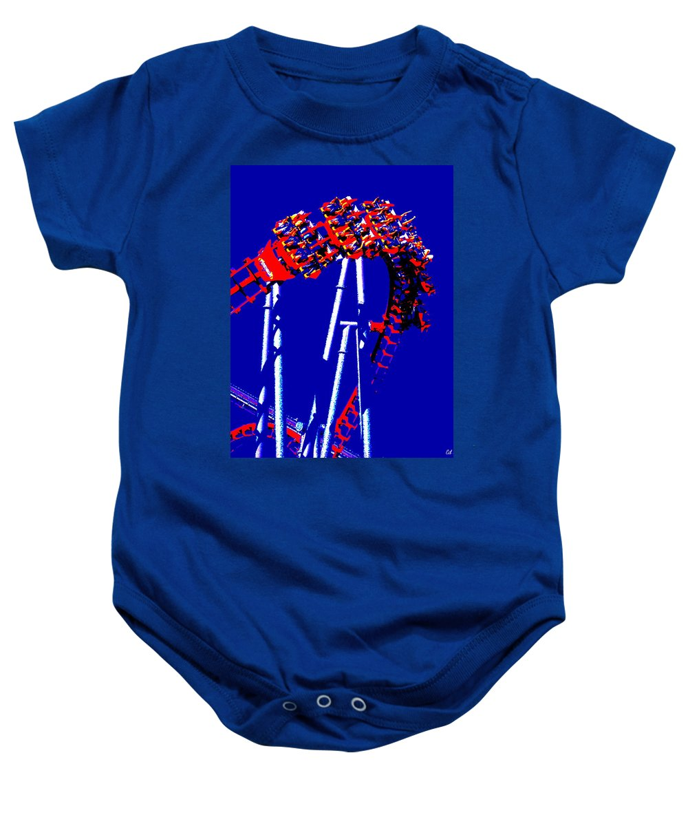 Down Side Up Baby Onesie featuring the photograph Down Side Up by Ed Smith