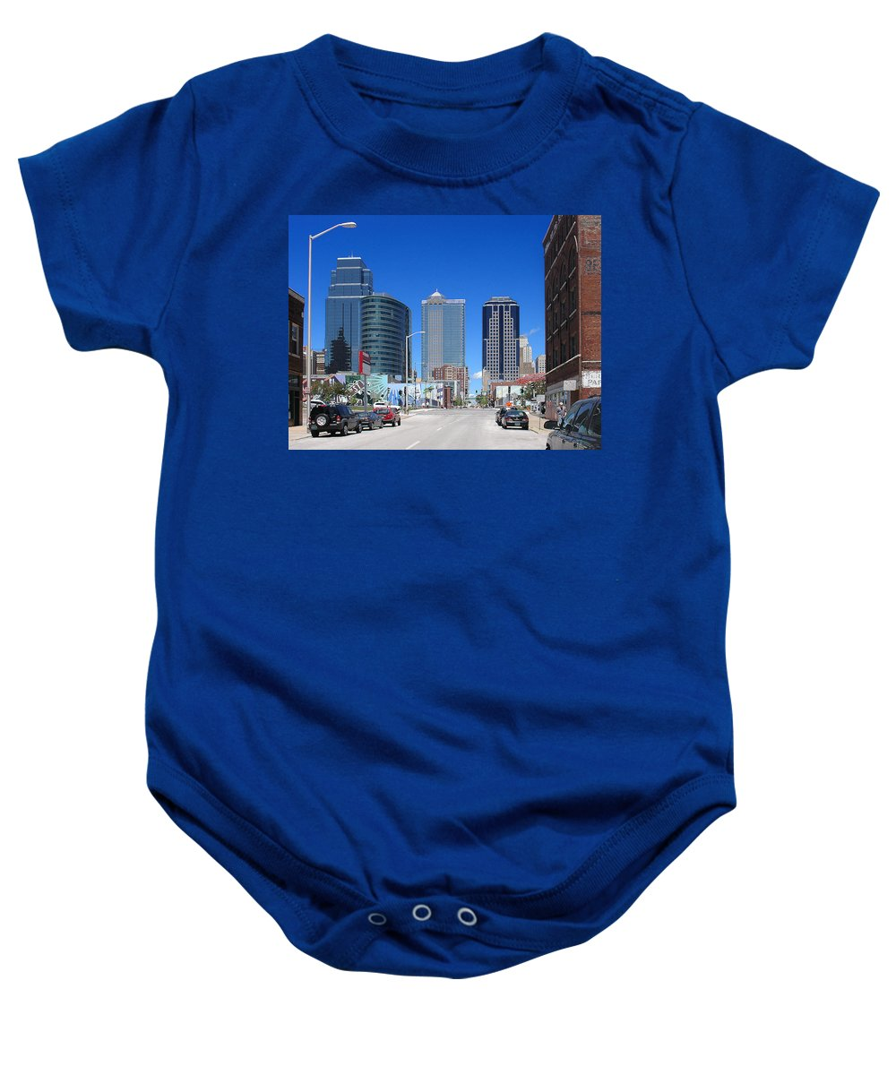 City Baby Onesie featuring the photograph Downtown Kansas City by Steve Karol
