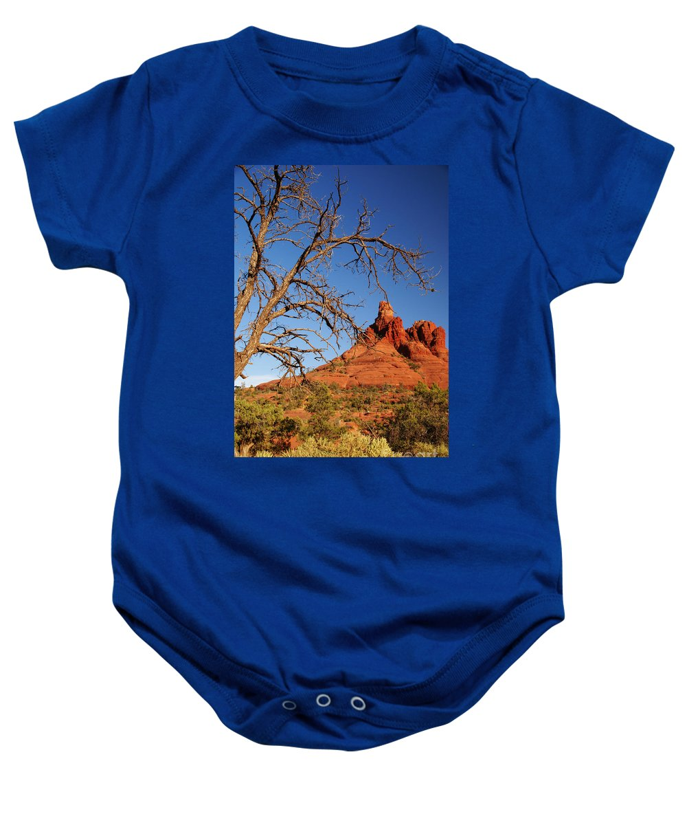 Sedona Baby Onesie featuring the photograph Draw Me Closer by Linda Shafer