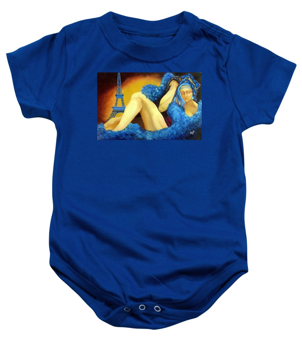 Paris Baby Onesie featuring the painting Dreaming Of Paris by Elizabeth Lisy Figueroa