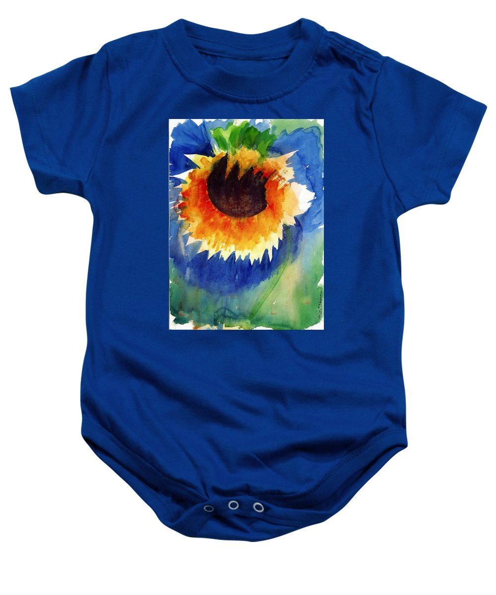 Dying Flower Baby Onesie featuring the painting End Of Life First Awareness by Kate Hopson