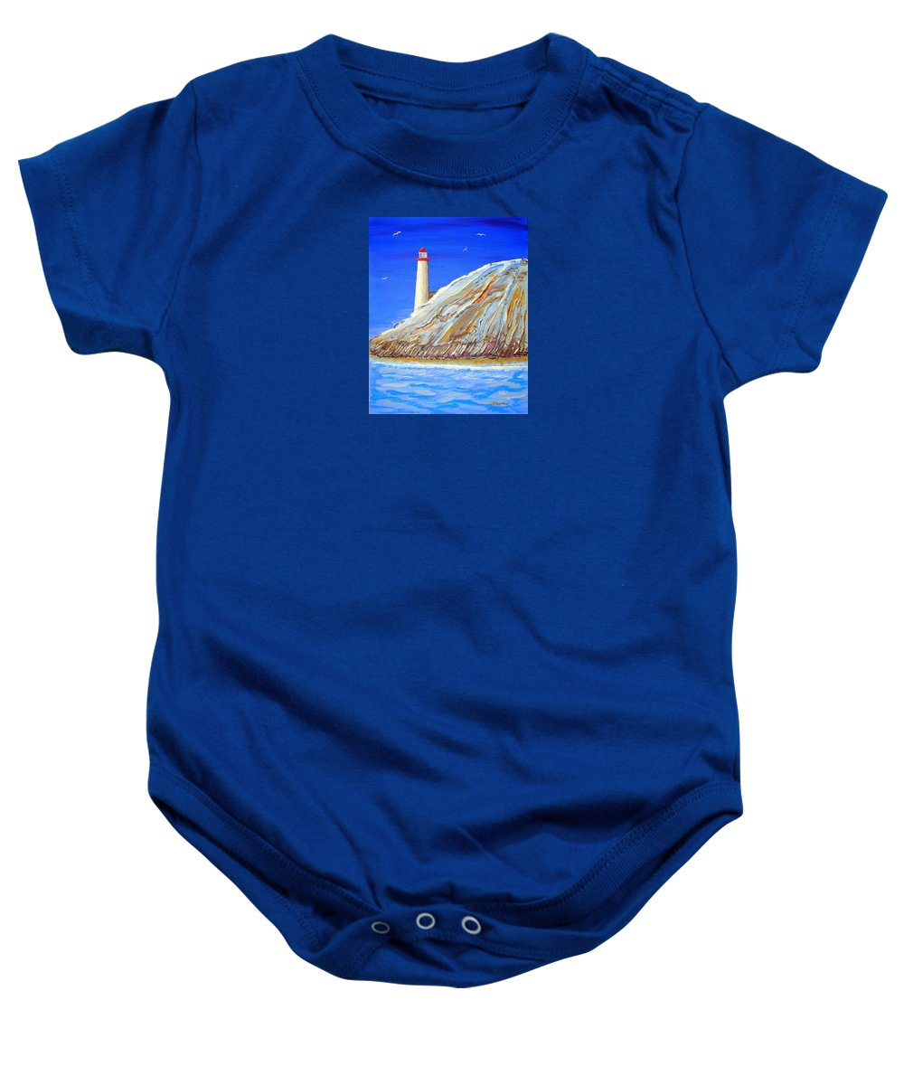 Impressionist Painting Baby Onesie featuring the painting Entering The Harbor by J R Seymour