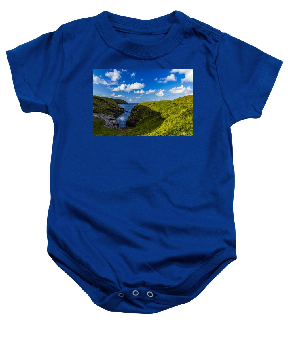 Landscape Baby Onesie featuring the photograph Erris Head, County Mayo, Ireland by Michael Kinsella