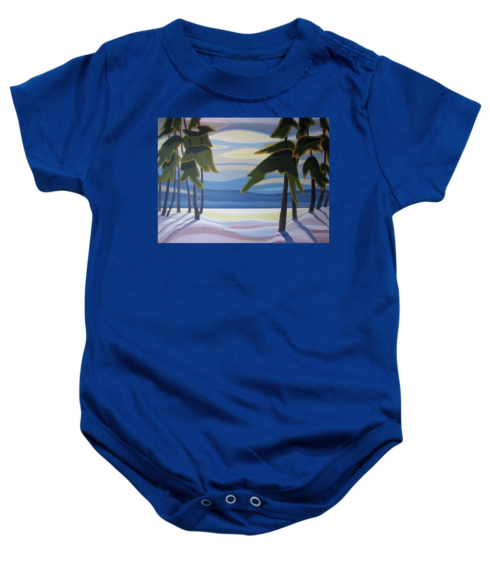 Group Of Seven Baby Onesie featuring the painting Ethereal by Barbel Smith