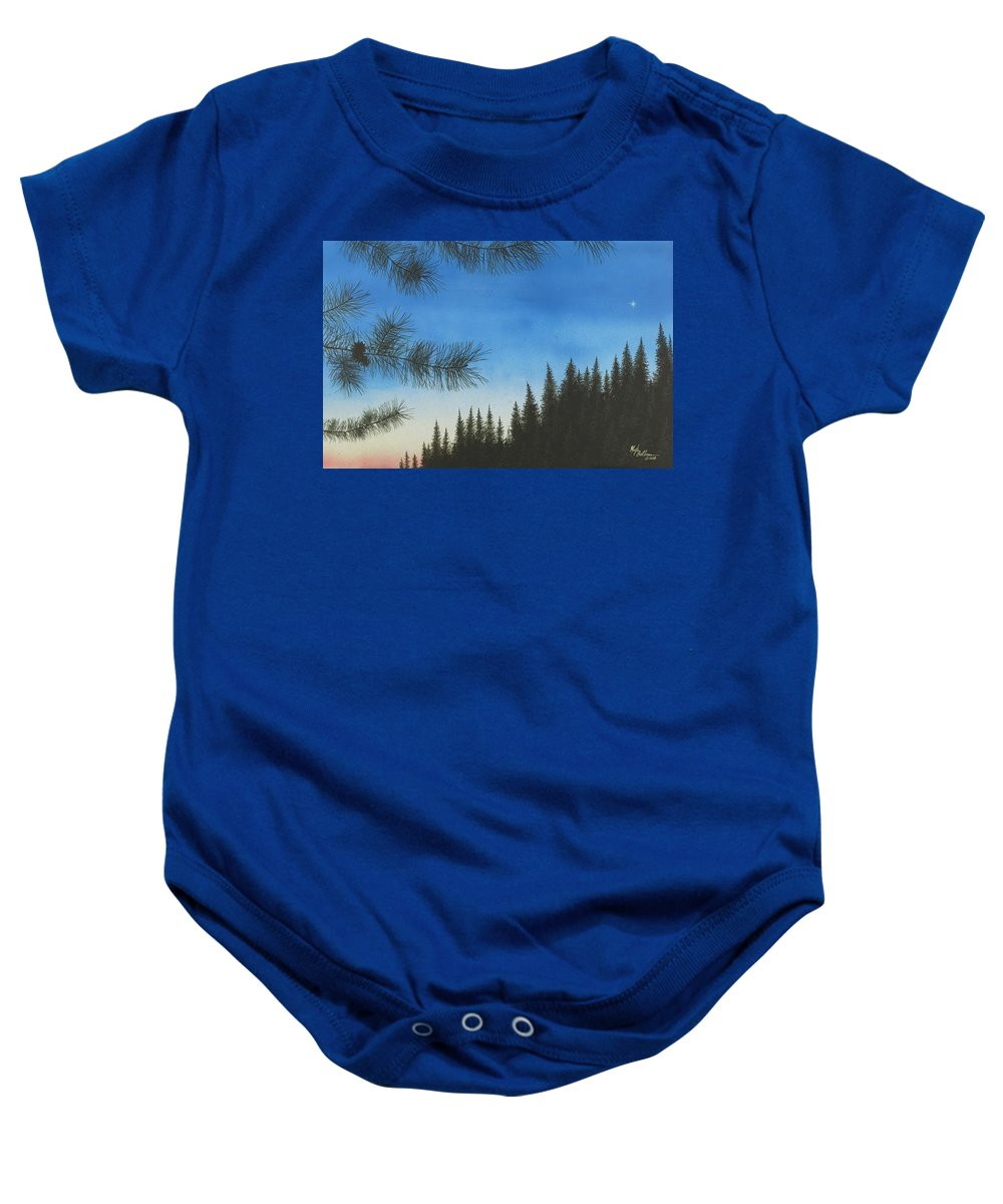 Acrylic Baby Onesie featuring the painting Evening by Martin Bellmann