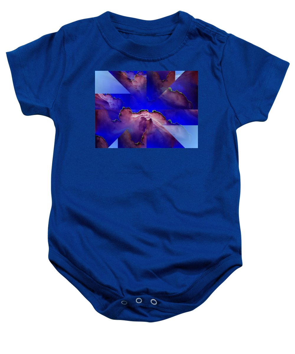 Clouds Baby Onesie featuring the digital art Face Cloud Illusion by Tim Allen