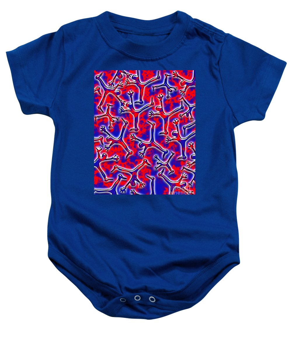 Abstract Baby Onesie featuring the digital art Falling Into The Abyss by Keith Dillon