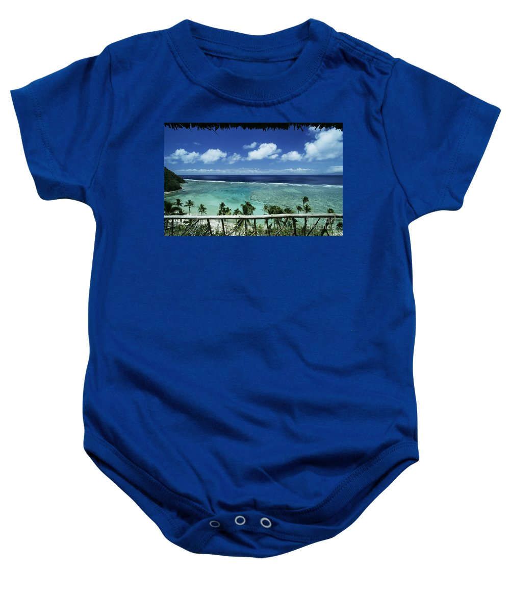 Architecture Baby Onesie featuring the photograph Fiji, Wakaya Island by Larry Dale Gordon - Printscapes