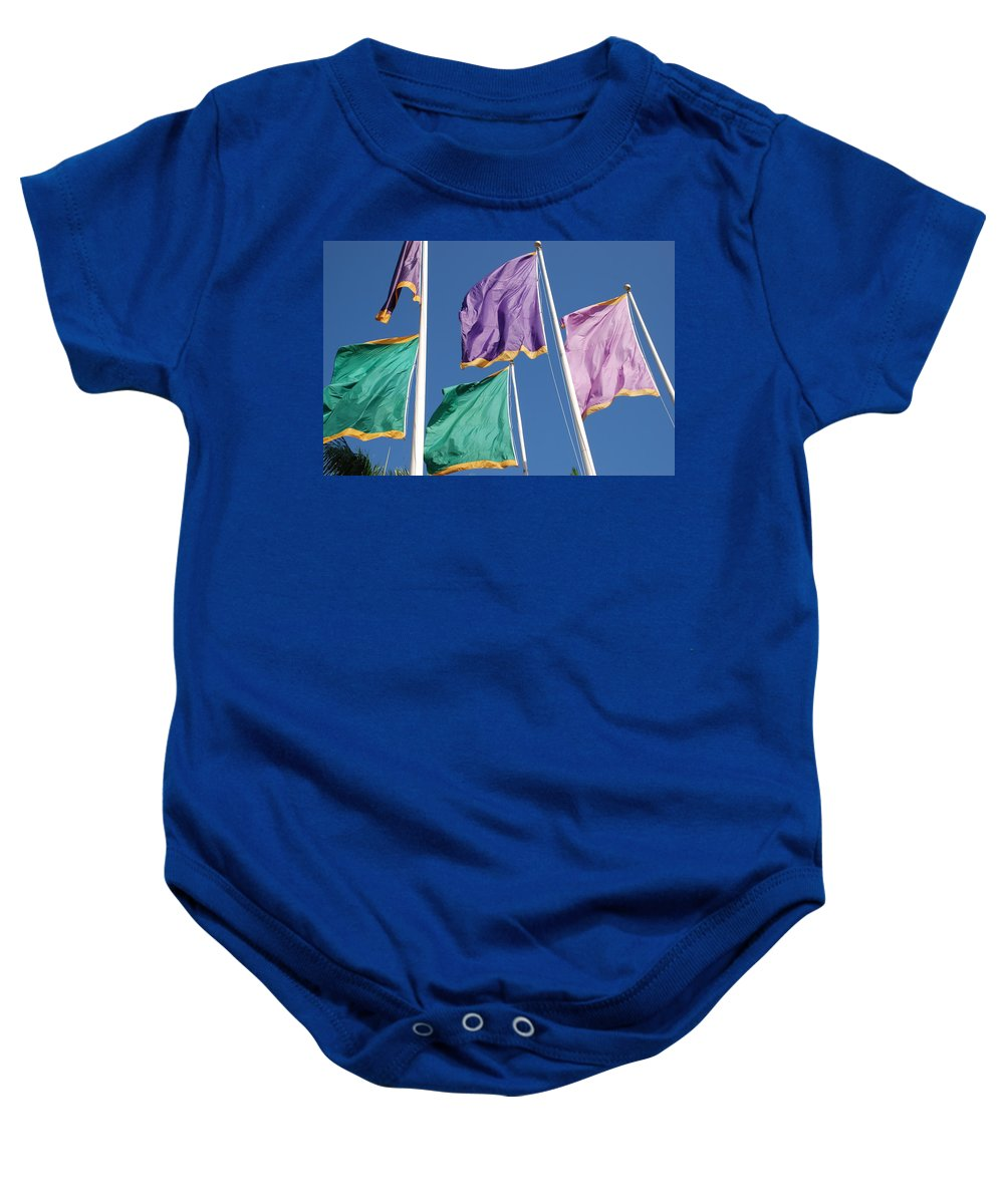 Flags Baby Onesie featuring the photograph Flags by Rob Hans