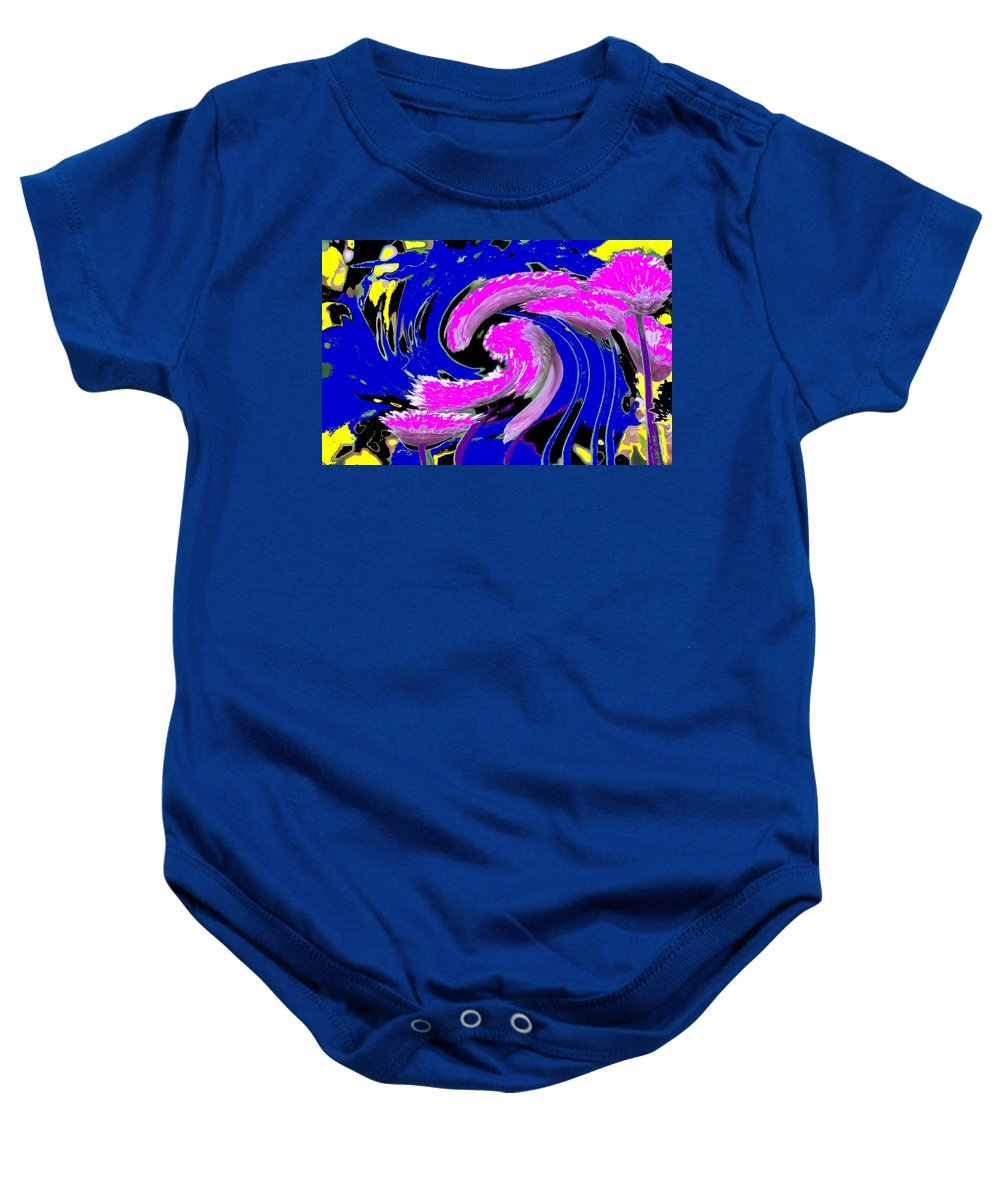 Abstract Baby Onesie featuring the photograph Floral Twist by Ian MacDonald