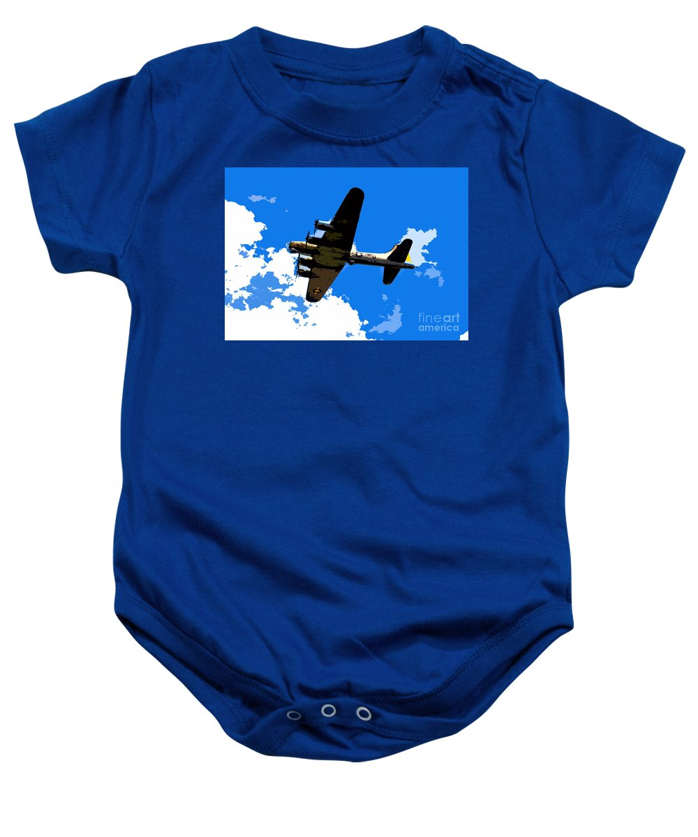 Flying Fortress Baby Onesie featuring the photograph Flying Fortress by David Lee Thompson