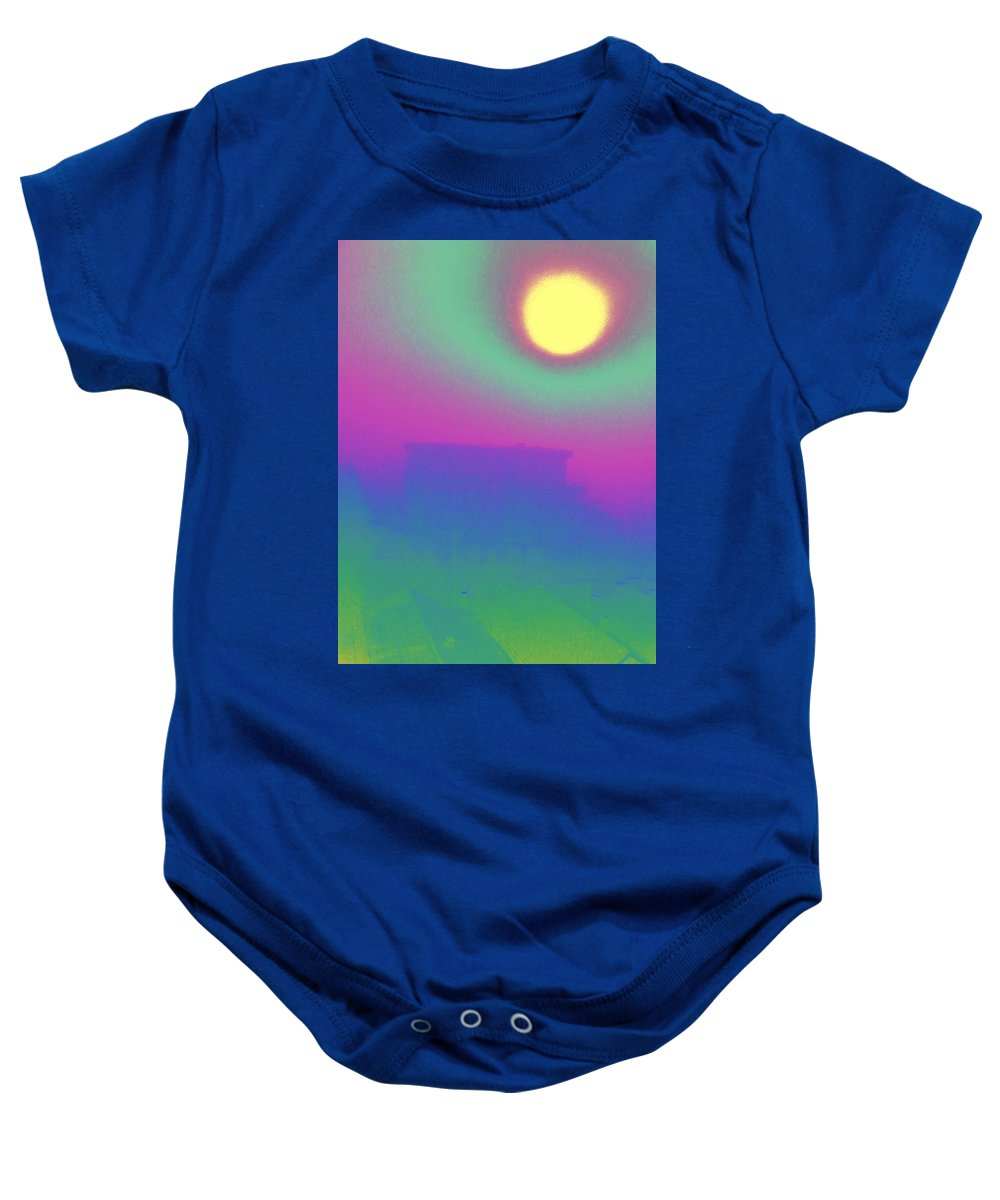 Abstract Baby Onesie featuring the digital art Foggy Day by Tim Allen