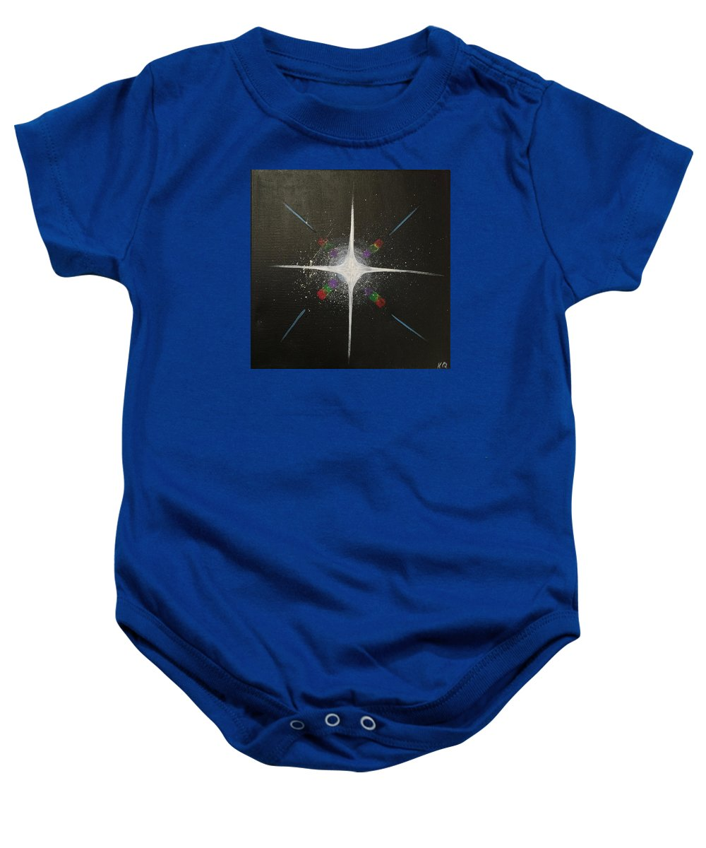 Rainbow Baby Onesie featuring the painting Fractal by Katy Quezada