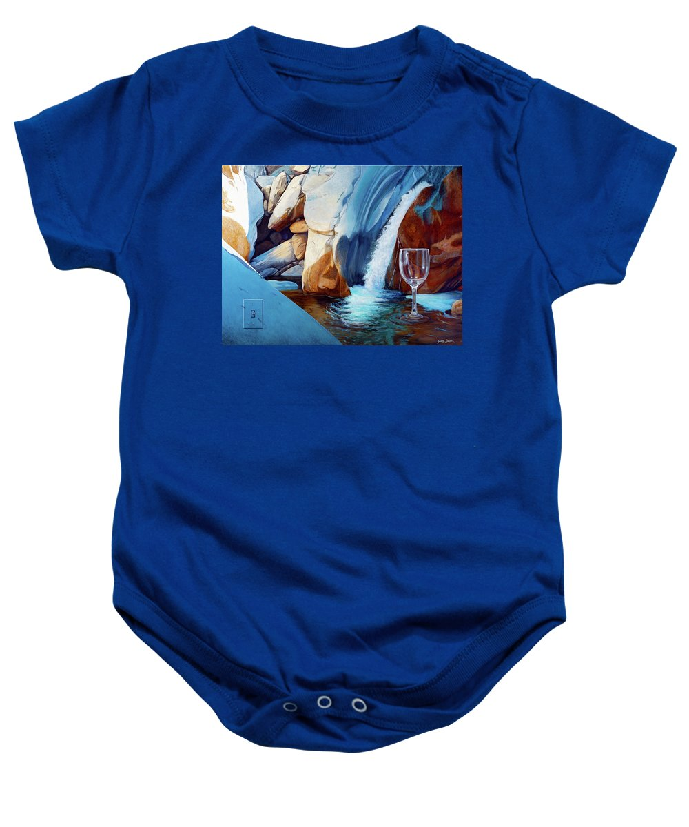 Landscape Baby Onesie featuring the painting Fragile Moments by Snake Jagger