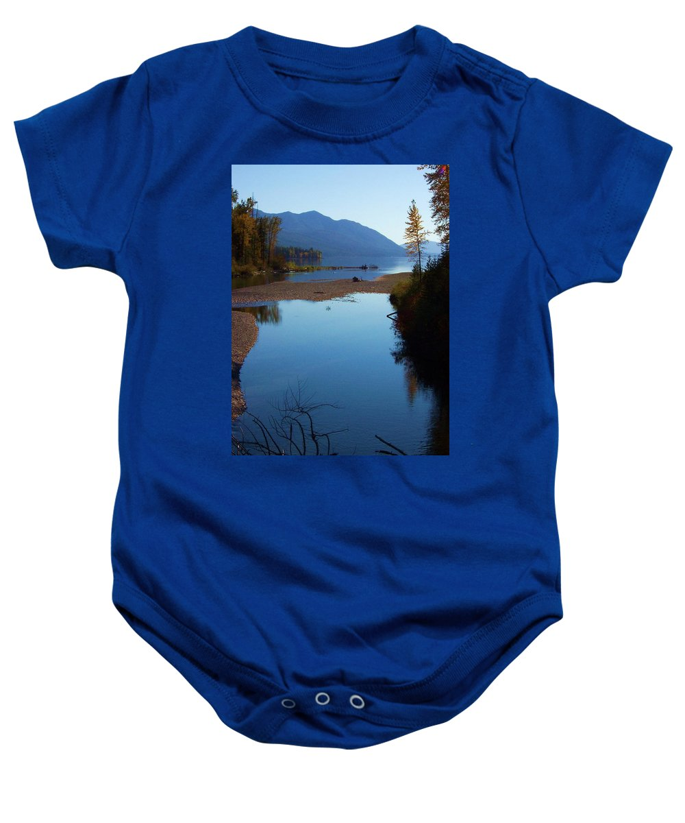 Montana Baby Onesie featuring the photograph Glacier Park 10 by Deahn   Benware