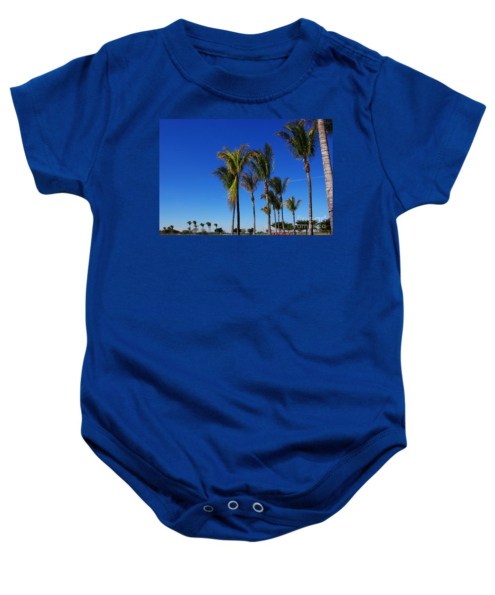 Palm Baby Onesie featuring the photograph Glorious Palms by Zal Latzkovich