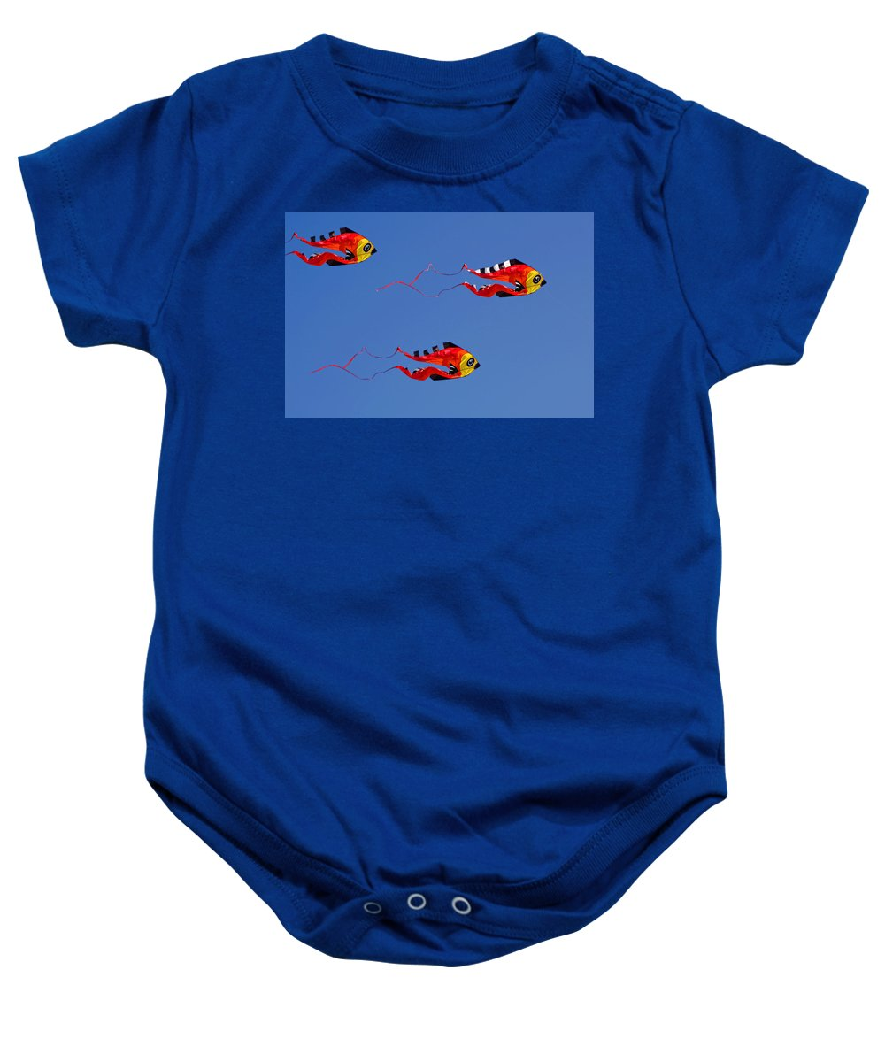 Clay Baby Onesie featuring the photograph Go Fly A Kite by Clayton Bruster