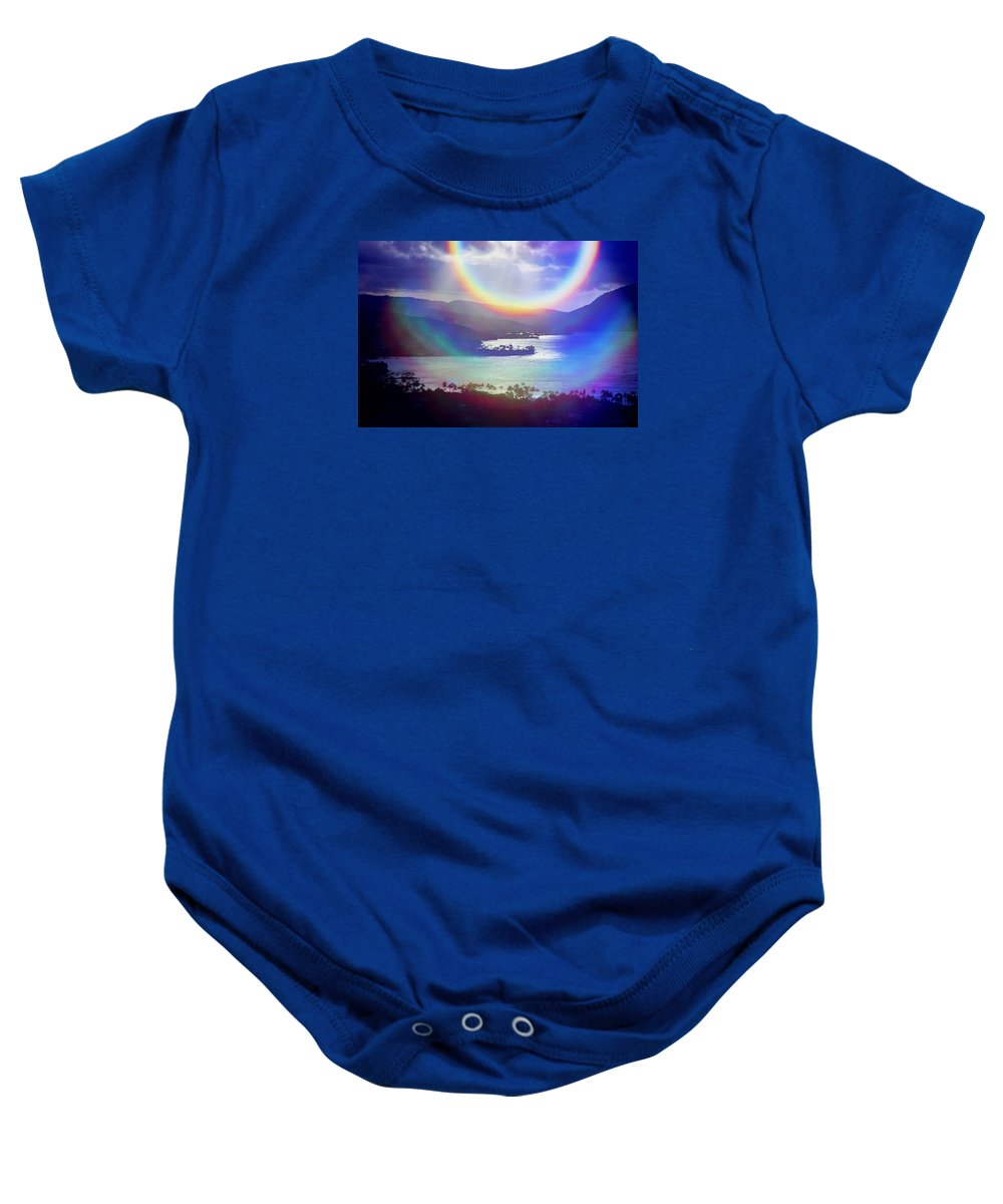 Maunalua Bay Baby Onesie featuring the photograph Gods Eye by Kevin Smith