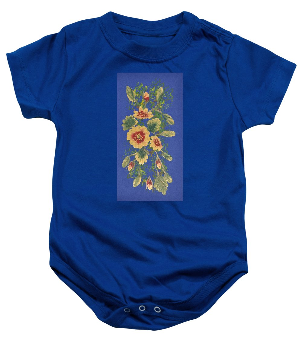 Decorations Baby Onesie featuring the painting Golden Radiance by Georgeta Blanaru