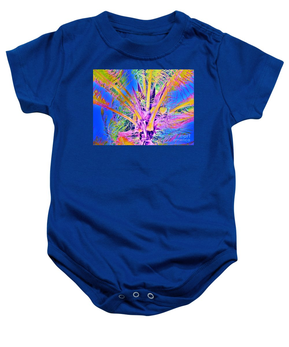 Jellee Pix Baby Onesie featuring the digital art Great Abaco Palm by Keri West
