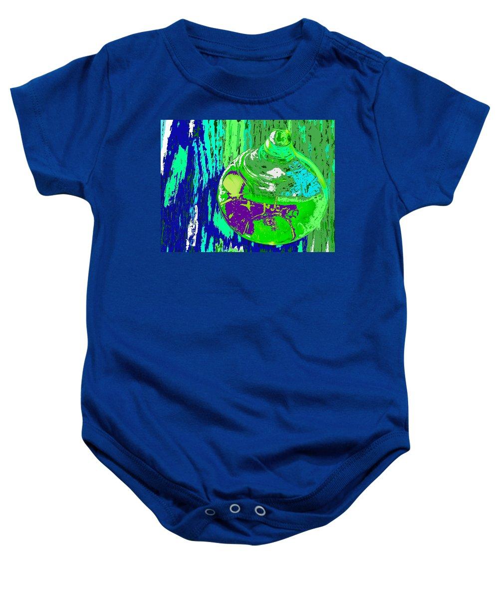Abstract Baby Onesie featuring the photograph Green Whirl by Ian MacDonald