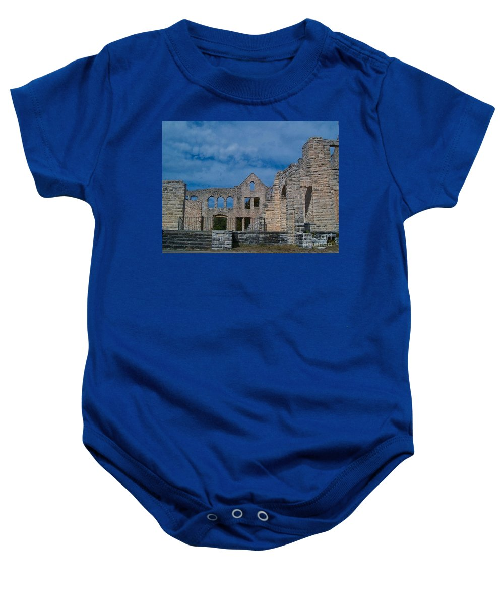 Castle Baby Onesie featuring the photograph Haha Tonka Castle 1 by Sara Raber