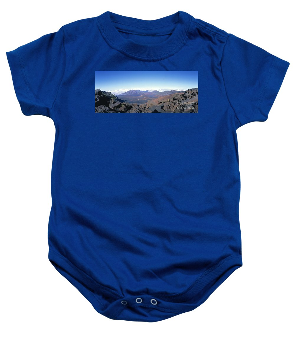 Blue Baby Onesie featuring the photograph Haleakala Expanse by Ron Dahlquist - Printscapes