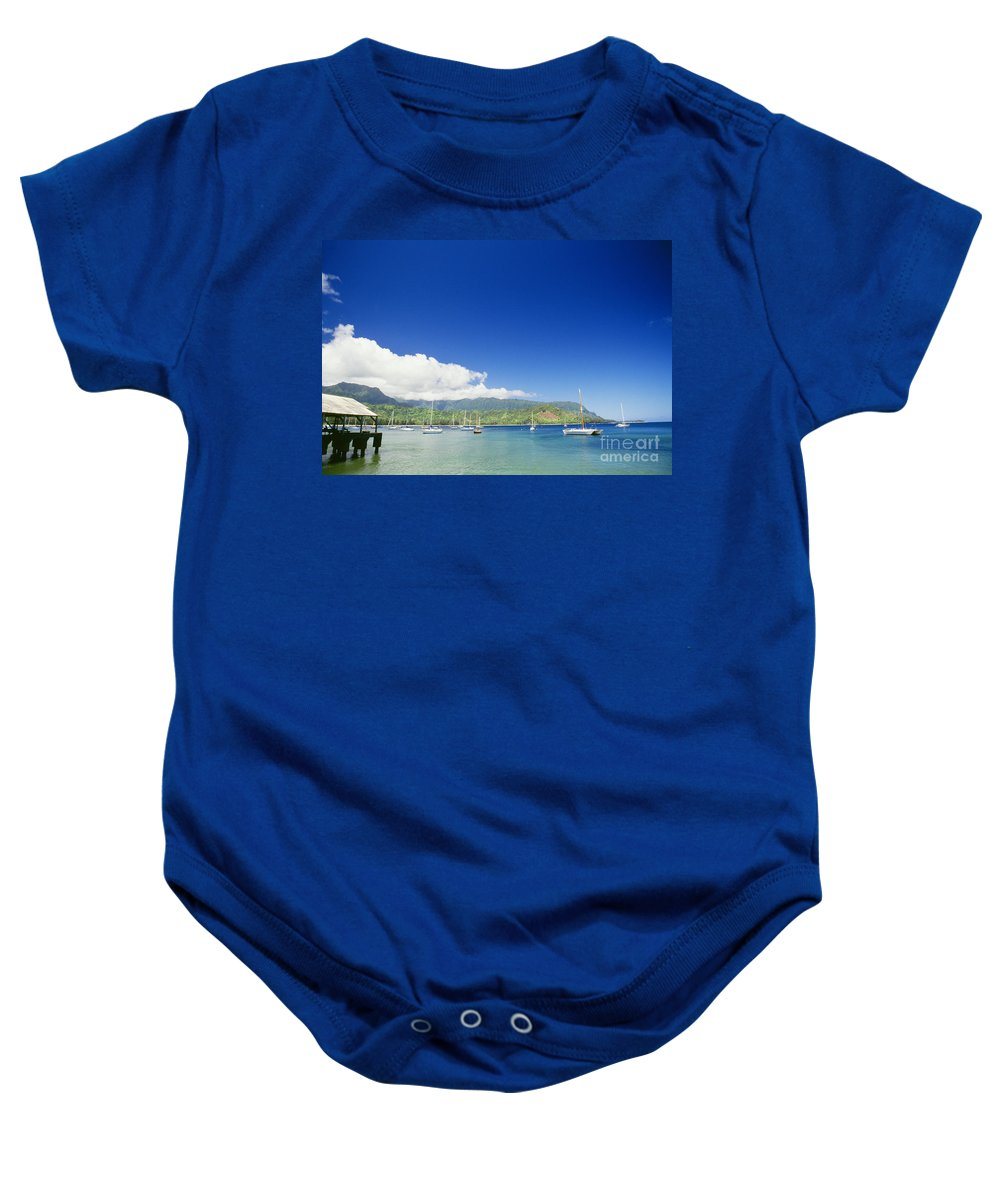 Bali Hai Baby Onesie featuring the photograph Hanalei Bay Coastline by Peter French - Printscapes