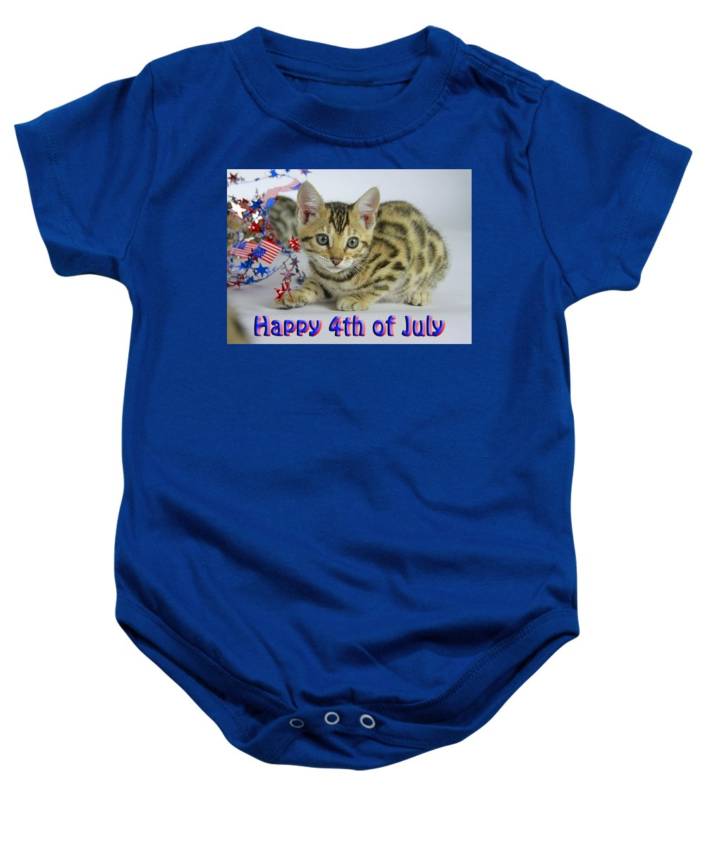 Bengal Baby Onesie featuring the photograph Happy 4th Of July by Shoal Hollingsworth