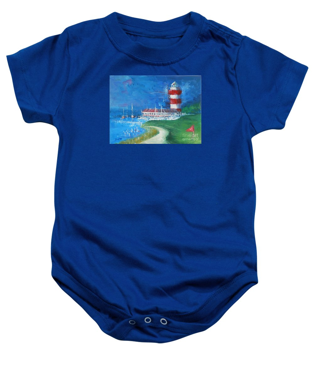 Harbour Town Baby Onesie featuring the painting Harbour Town 18 by Dan Campbell