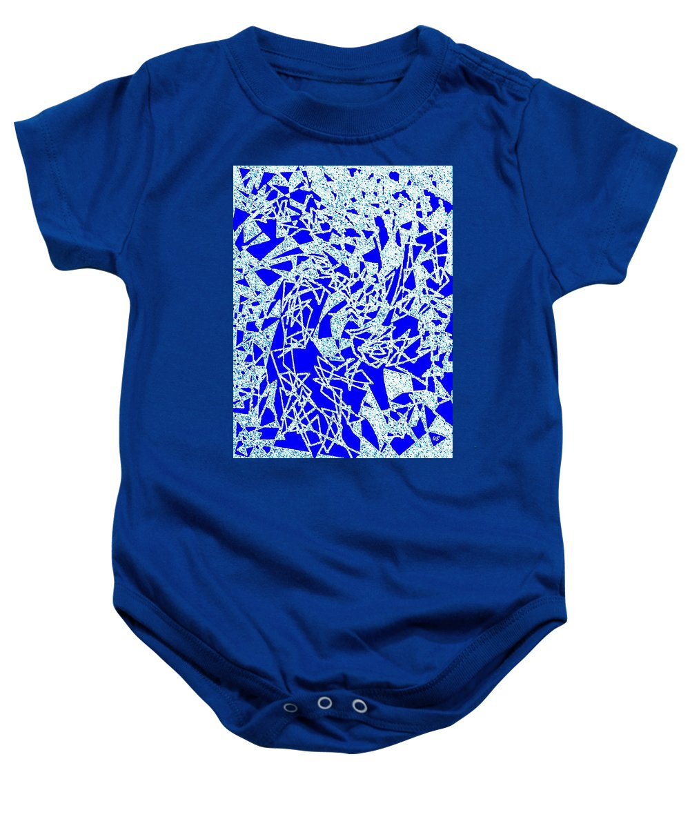 Abstract Baby Onesie featuring the digital art Harmony 10 by Will Borden
