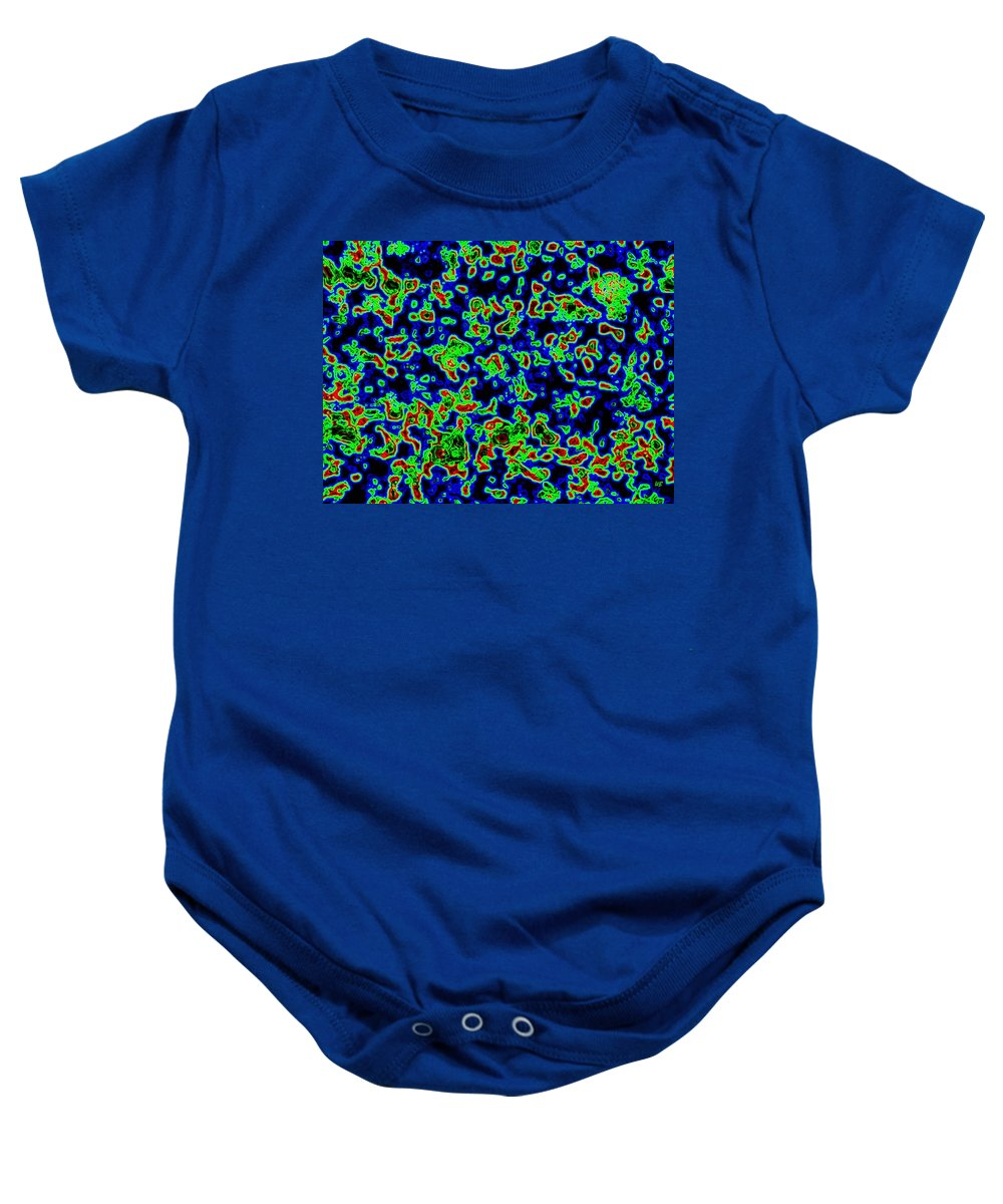 Abstract Baby Onesie featuring the digital art Harmony 14 by Will Borden