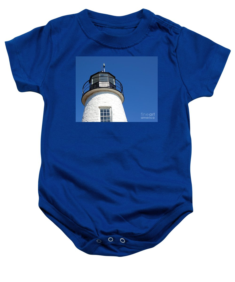 Lighthouse Baby Onesie featuring the photograph Havre De Grace Lighthouse 2 by Debbi Granruth