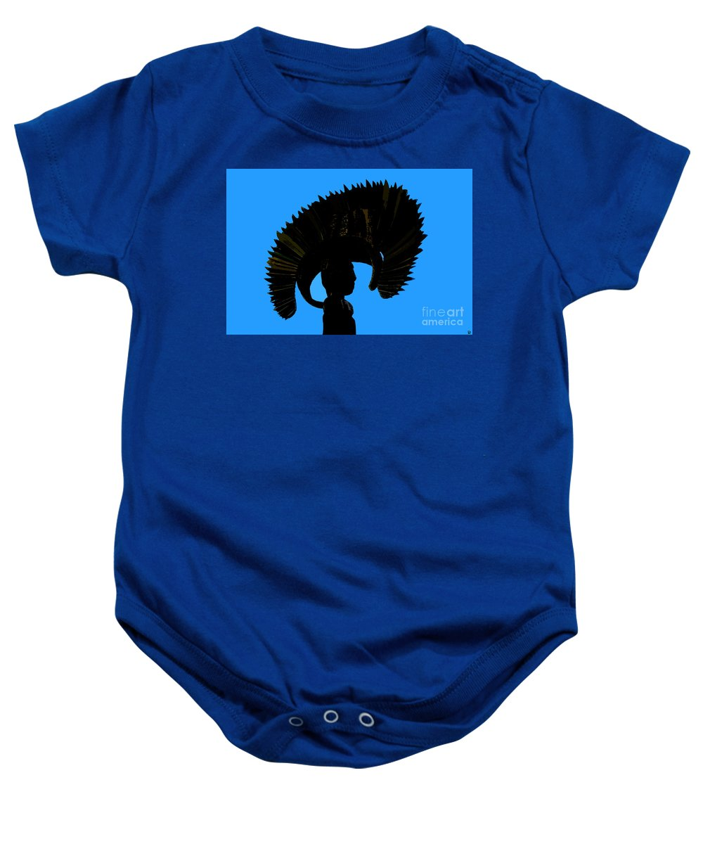 Headdress Baby Onesie featuring the painting Headdress by David Lee Thompson