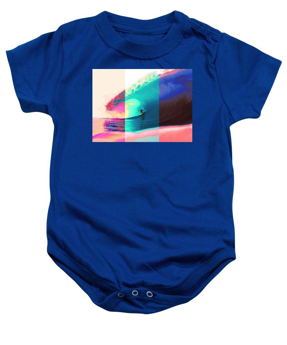 Weed Baby Onesie featuring the digital art Heavy Set by Scott Schauer