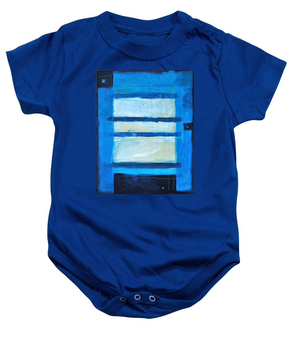 Abstract Baby Onesie featuring the painting Hidden Moon by Tim Nyberg