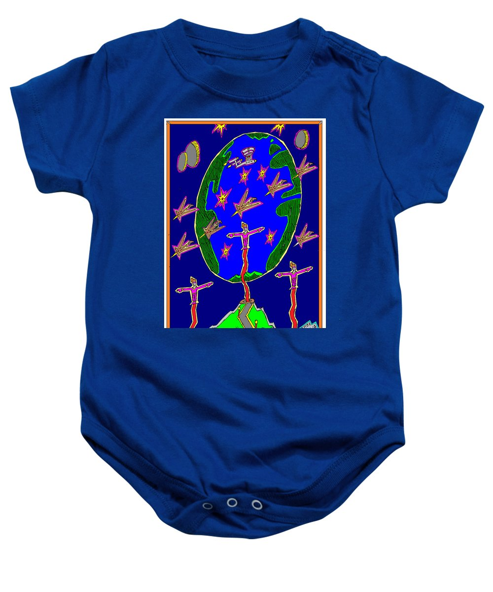 Science Fiction Baby Onesie featuring the mixed media Hopeless Search by Anthony Benjamin