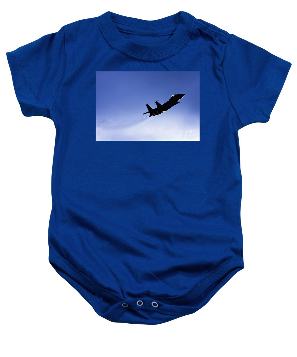 Aircraft Baby Onesie featuring the photograph Iaf F15i Fighter Jet by Nir Ben-Yosef